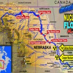 MAP USA Nuclear and Flood Alert  Fort Calhoun and Cooper Nuclear Power Plant USA Alerte Inondation Missouri et alerte Centrales Nucléaires Fort Calhoun et Cooper