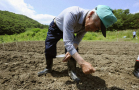 Soil decontamination experiment in Kawamata