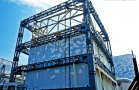Unit 1, Fukushima Daiichi NPS, Construction of steel erection for cover of reactor building completed