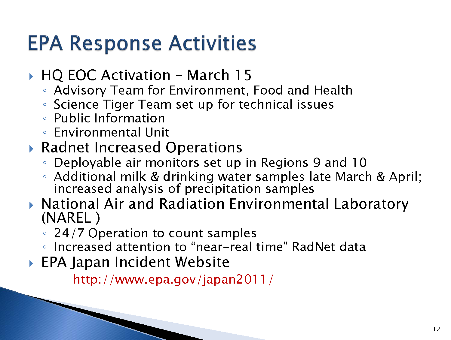 epa response To find epa's current and past emergency response activities in your community, please use our cleanups in my community tool simply enter.