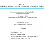 Reliability and service life evaluation of nuclear facilities_Page_01