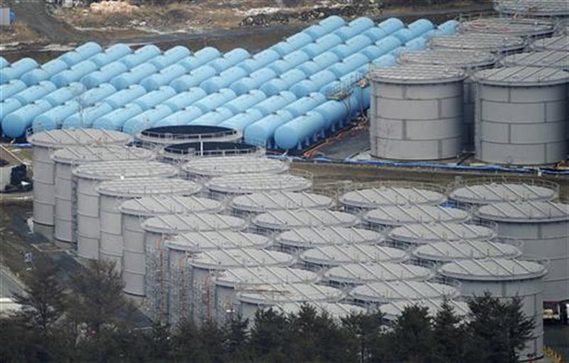Tokyo Electric Power Co.'s tsunami-crippled Fukushima Daiichi nuclear power plant's contaminated water storage tanks are seen in Fukushima prefecture