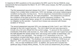 March 22, 2011 - Summary of Phone Call Between PMT and NEI (930AM - 948AM)