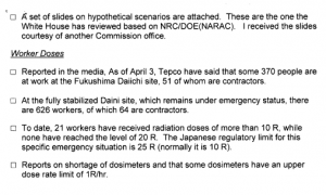 April 4th, 2011 - UPDATE from 1000 Telecon on Fukushima Daiichi Events
