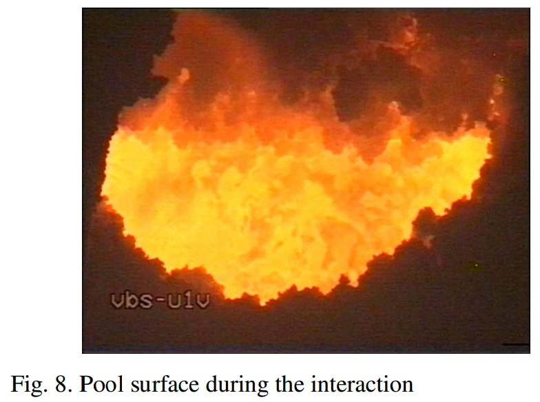 Pool Surface during core-concrete interaction