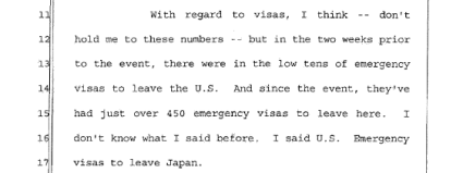 March 23rd, 2011 - Fukushima disaster instigated rush of applications for emergency visas to leave Japan