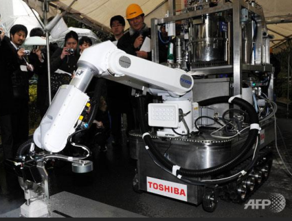 Toshiba Dry Ice Vacuum Cleaner Robot For Fukushima Daiichi Decontamination