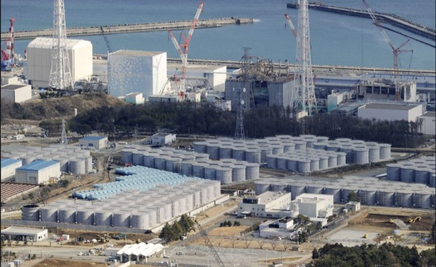 Fukushima Daiichi Reactors from West looking over Pacific Ocean