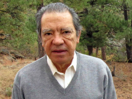 This Oct. 22, 2009 photo shows former Los Alamos National Laboratory nuclear physicist P. Leonardo Mascheroni on his back deck in Los Alamos, N.M. Mascheroni, whose house was searched by FBI agents Oct. 19th 2009 (AP Photo/Heather Clark)