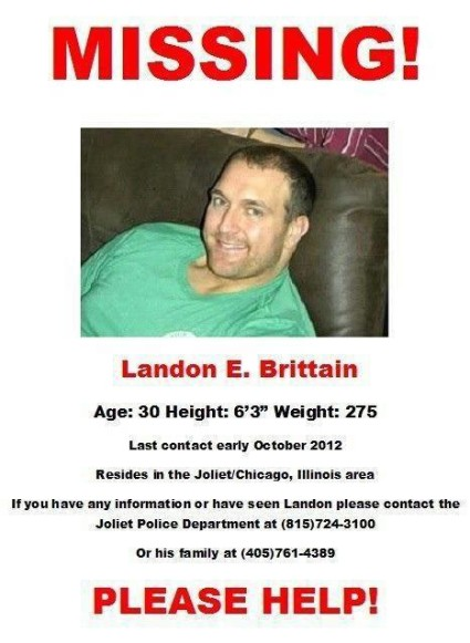 Landon Brittain Missing Poster