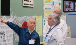 On Friday, Moniz toured the crippled Fukushima Daiichi nuclear power plant on Friday with TEPCO President Naomi Hirose.  At the facility they toured monitoring wells, the Unit 4 reactor building, and the Anti-Earthquake building.