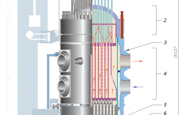 A diagram of the Voda Voda Energo Reactor, the reactor design to be used for Turkey's first nuclear reactor constructed by Rosatom.