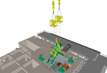 Image showing lifting of fuel handling machine.