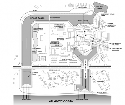 St Lucie nuclear power plant intake
